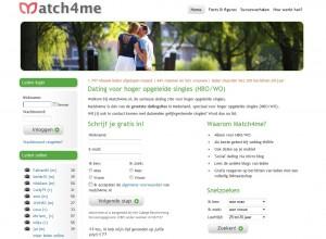 match4me goede datingsite voor hoog opgeleiden